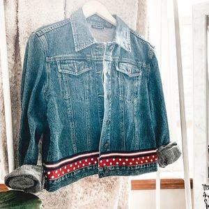 VINTAGE • polka dot retro denim jean jacket